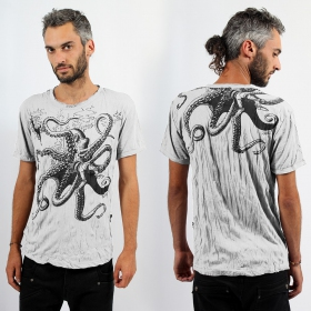 """Octopus\"" t-shirt, White"