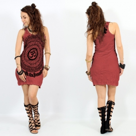 """Ohm Mandala\"" dress, Dark red"