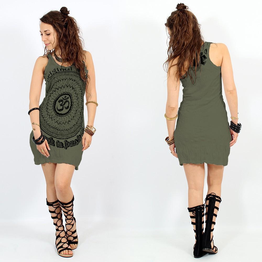 "\""Ohm Mandala\"" dress, Khaki"