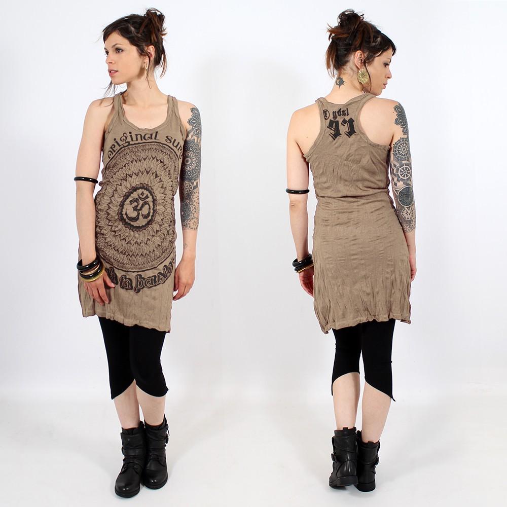 "\\\""Ohm Mandala\\\"" dress, Light brown"