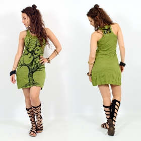 "\\\""Ohm tree\\\"" dress, Apple green"