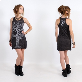 "\""Ohm tree\\\"" dress, Dark grey and silver"