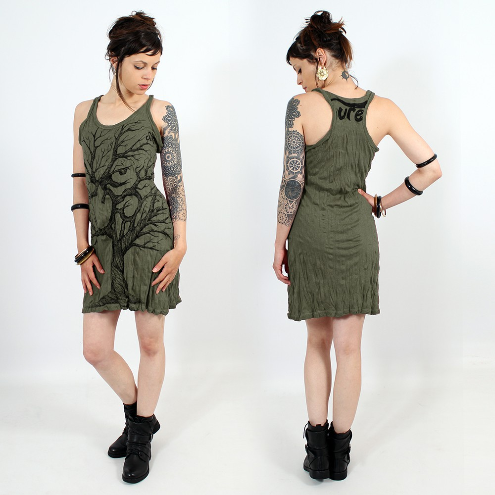 """Ohm tree\"" dress, Khaki"