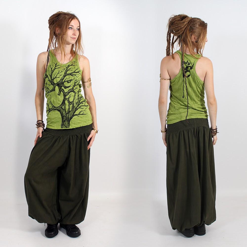 "\\\""Ohm tree\\\"" tank top, Apple green"