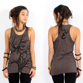 "\""Ohm tree\\\"" tank top, Taupe"