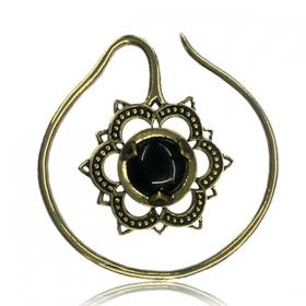 "\\\""Onyx Labangalata\\\"" brass ear jewel"