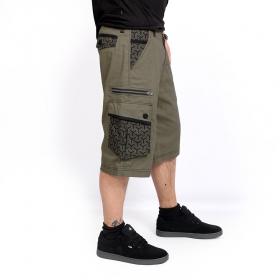 """Pantalón corto \""""Pluto Kikko\"""", Verde caqui"""