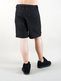 """Pantalón corto de mezclilla \""""Cirdan\"""", Negro"""