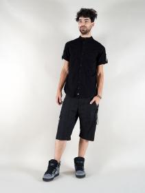 """Pantalón corto de mezclilla \""""Vanyar\"""", Negro"""