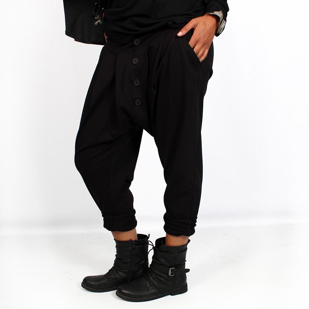 """Pantalón sarouel \""""Badiyah\"""", Negro"""