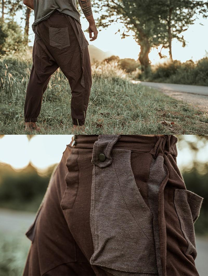"Pantalón sarouel \""Ifarit\"", Marrón"