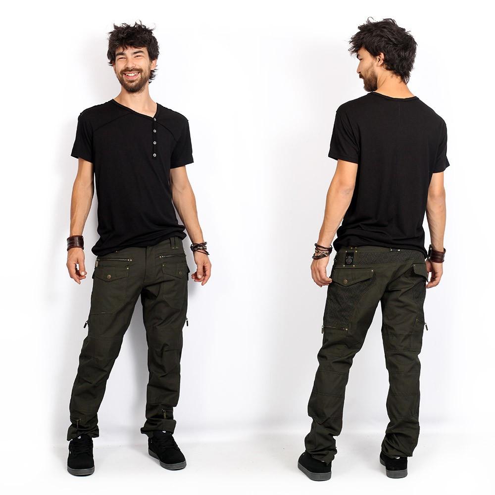 "Pantalones \""Awakke\"", Verde oliva oscuro"