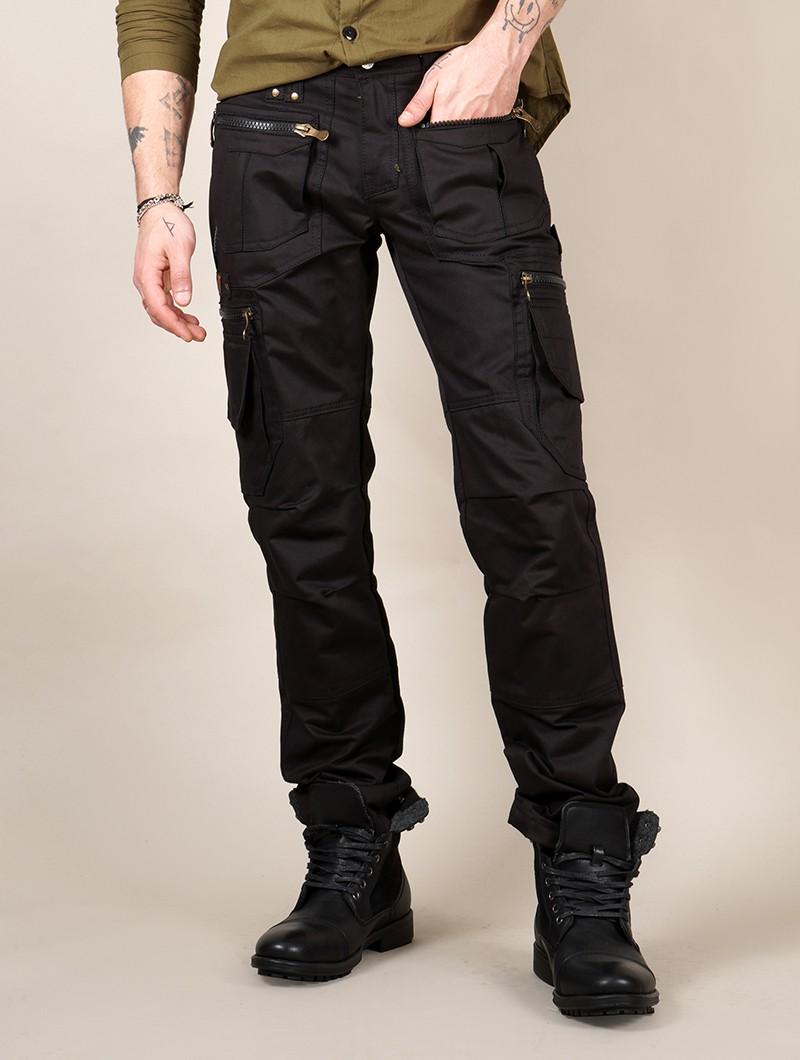 "Pantalones cargo \""Vector\"", Negro"
