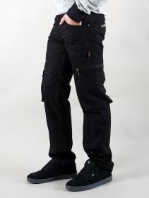 """Pantalones cargo \""""Wake\"""", Negro"""