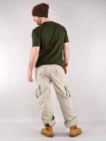 Pantalones cargo baggy unisex Molecule, Beige