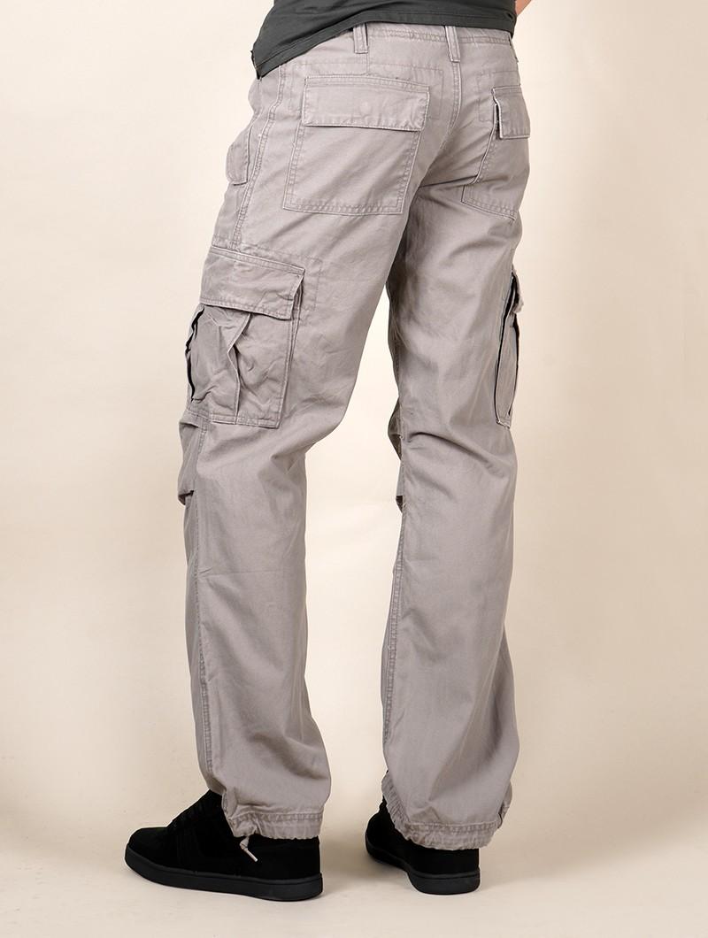 Pantalones cargo baggy unisex Molecule, Gris