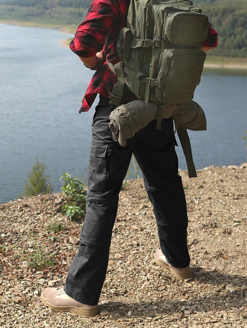 """Pantalones de combate 3en1 \""""Cargo Savannah\"""", Negro"""
