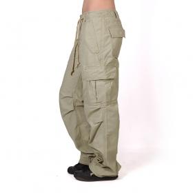 Pantalones holgados Molecule para mujeres, Beige