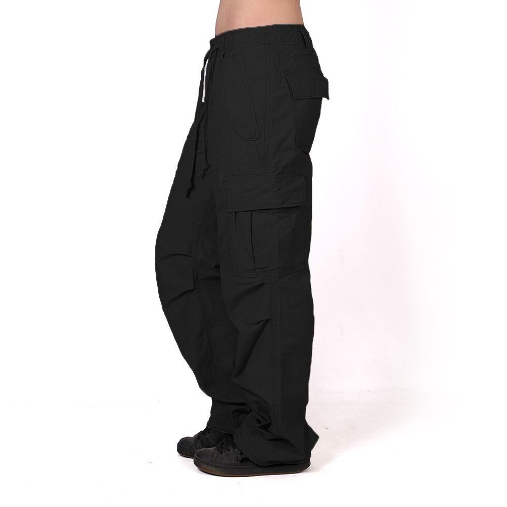 Pantalones holgados Molecule para mujeres, Negro