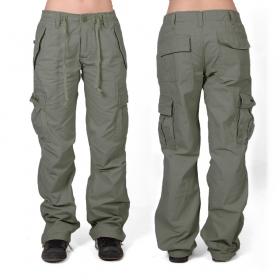 Pantalones holgados Molecule para mujeres, Verde caqui