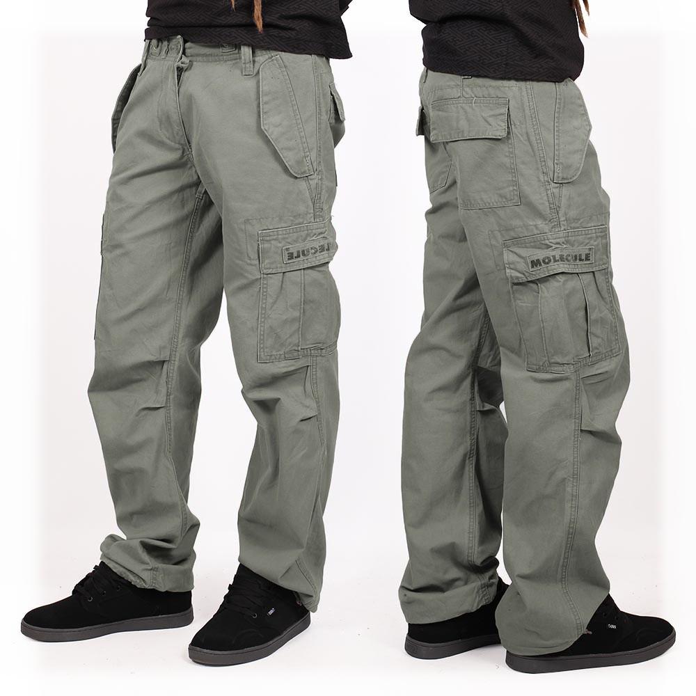 Pantalones holgados Molecule unisex, Verde caqui