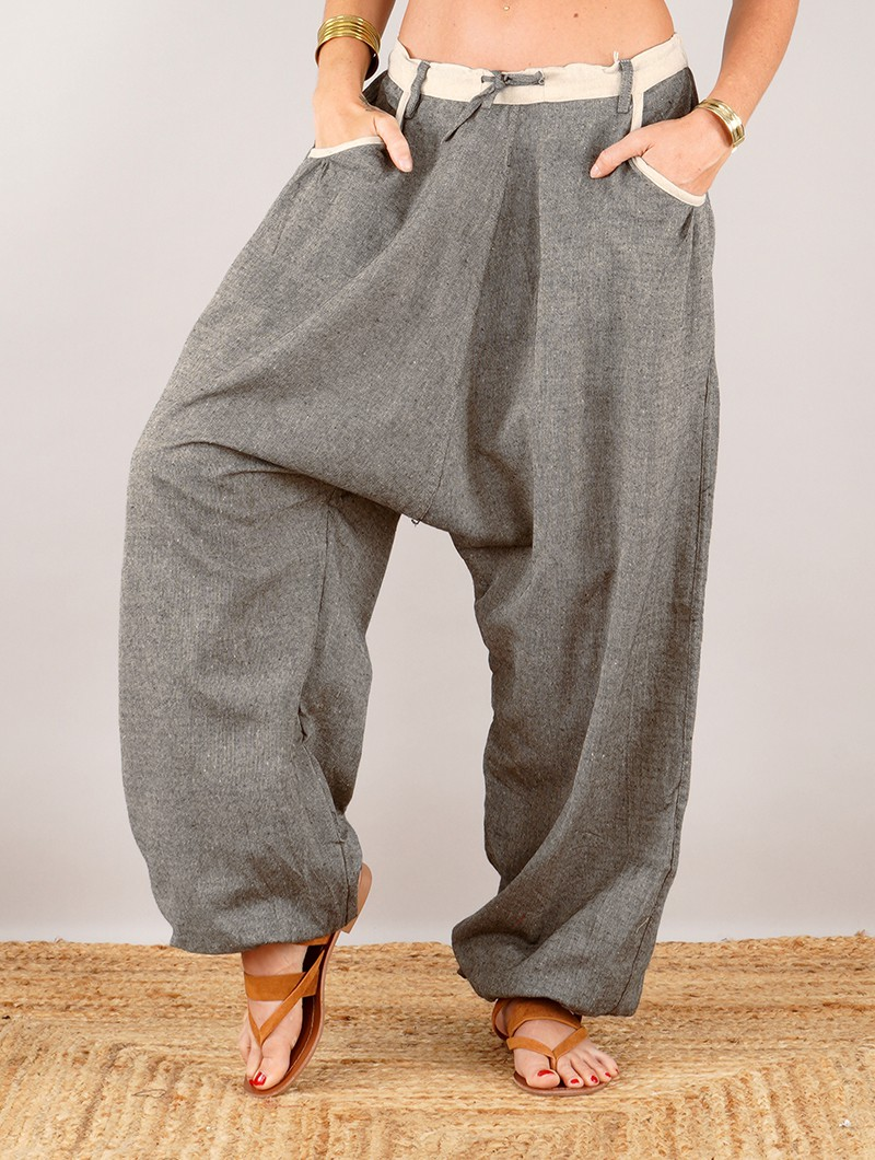 "Pantalones sarouel unisex \""Niharika\"", Beige"
