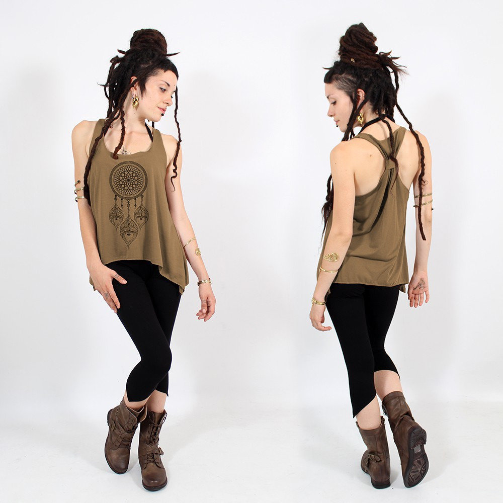 ""\\""""Peacock dreamcatcher\"""" knotted tank top, Black and gold""1000|1000|?|en|2|eb7b47967205df399f955c388ea39e79|False|UNLIKELY|0.3218582272529602