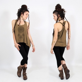 ""\\""""Peacock dreamcatcher\"""" knotted tank top, Black and gold""280|280|?|en|2|d5227b7182174364d157e687db0492f3|False|UNLIKELY|0.335050106048584