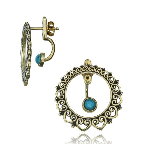 "Pendientes ""Angha dayira Turquoise\"""