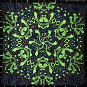 """Pequeña tapiz de tela UV \""""Rhombus\"""""""