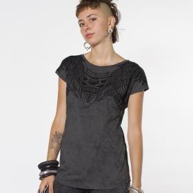 """PlazmaLab \""""Yanshu\"""" top T-shirt, Acid grey"""