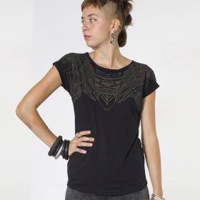 """PlazmaLab \""""Yanshu\"""" top T-shirt, Black"""