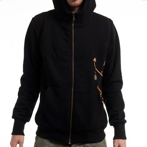 "PlazmaLab zipped hoodie \\\""Fiddler\\\"", Black"