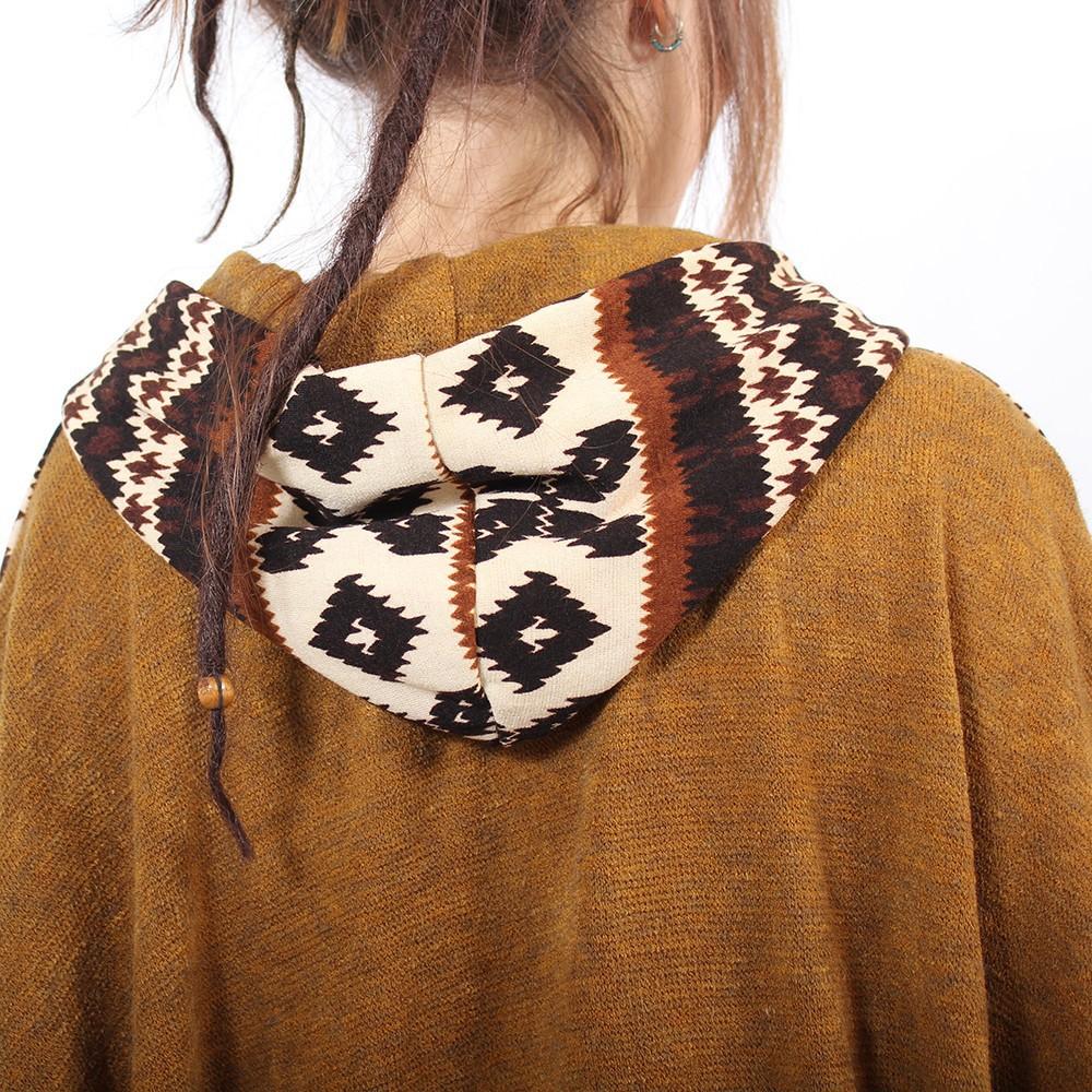 """Poncho \""""Kamboja\"""", Rusty pattern one size"""