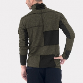 "Psylo ""patchwork jumper\"" sweater, Khaki and Black"