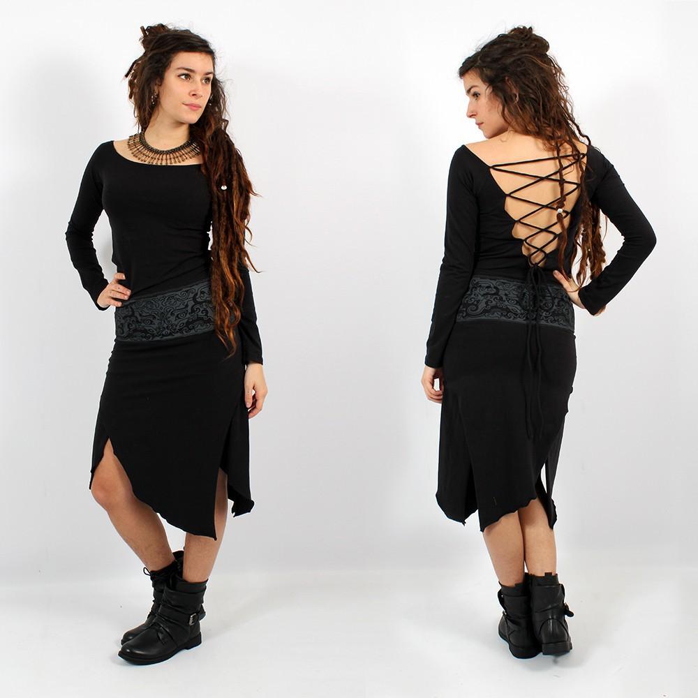 """Psylo Long Dress \\\""""Monroe\\\"""", Black"""