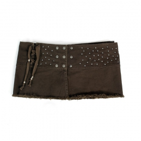 "Psylo mini skirt ""MiniRemix\"", Dark olive"