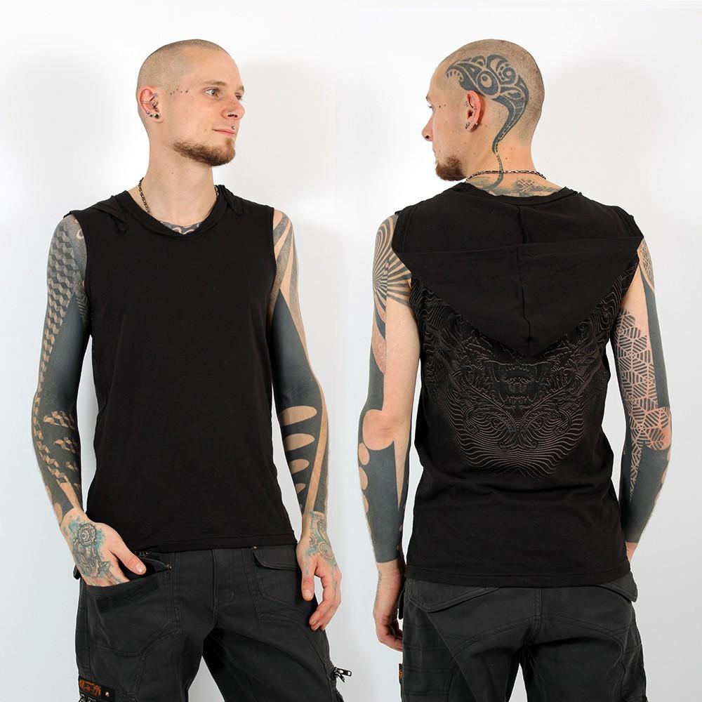 "Psylo Sleeveless T-shirt \""Tiger\"", Black"