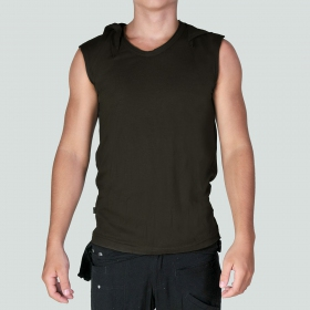 "Psylo Sleeveless T-shirt ""Tiger\"", Olive"