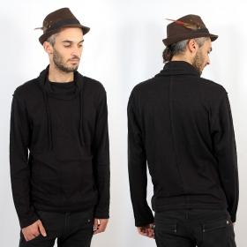 "Psylo Sweater \""Pleats Jumper\"", Black"