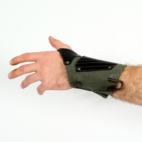 """Psylo Wrist band \""""8\"""", Kaki"""