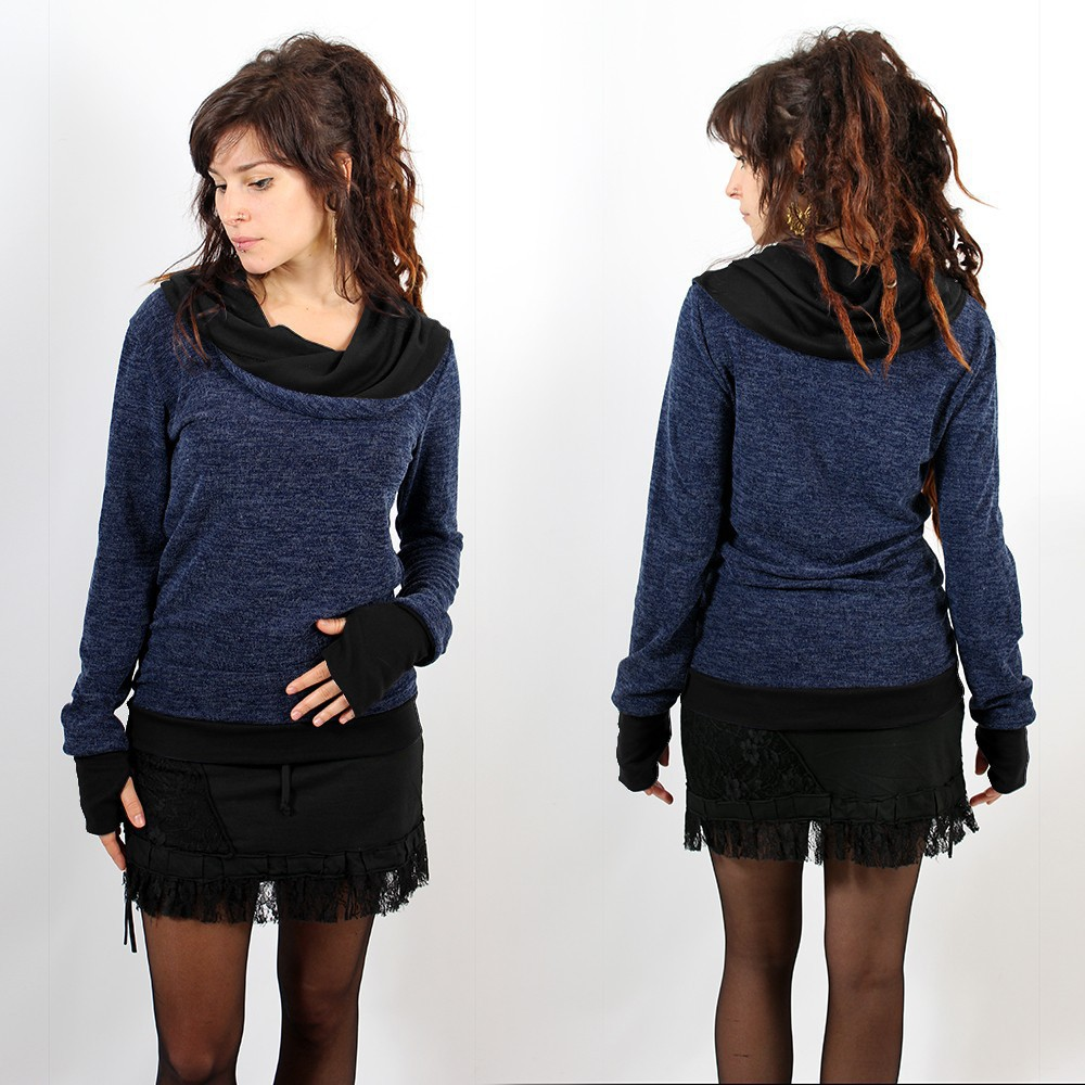 "Pullover Witch \""Janjira\\\"", Blue black"