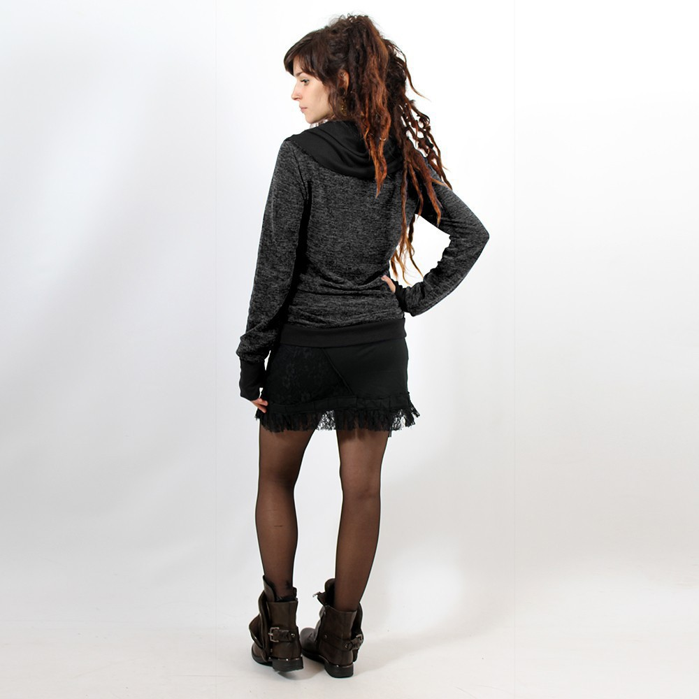 "Pullover Witch ""Janjira\"", Dark grey black"