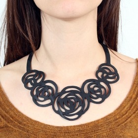 """Rose\"" inner tube necklace"