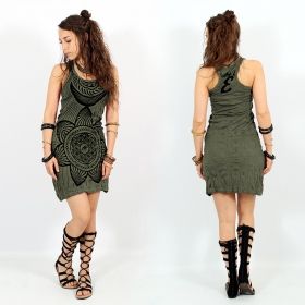 "\""Sacred Geometry\"" dress, Khaki"