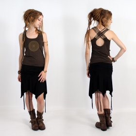 "\""Sacred Geometry\\\"" top, Brown"