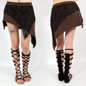 """Saravana\"" skirt, Brown and black"