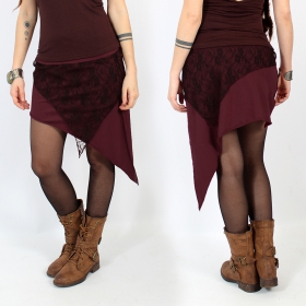 """Saravana\"" skirt, Wine and brown"