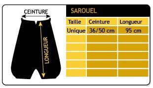 "Sarouel \\\""anju\\\"", black one size"