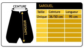 """Sarouel \\\""""anju\\\"""", khaki one size"""